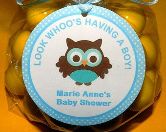 Owl Baby Shower -Owl Baby Shower Favor Tag- Owl Baby Shower Decorations