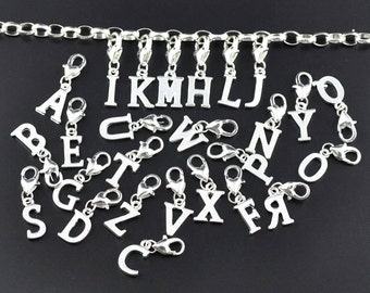 Initial Clip Charm  to personalize your charm bracelet