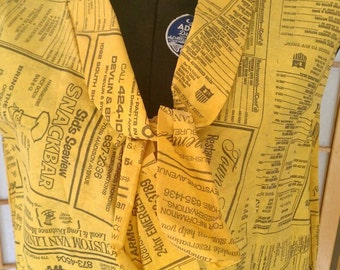 SALE Collectable 1960's Yellow Pages Paper Dress