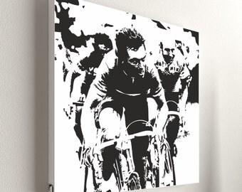 """Cycling - Bernard Hinault No.2 - 55 x 55 cm (21,6"""" x 21,6"""")"""
