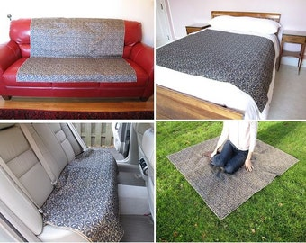 Waterproof Throw, 54x54, Choose Your Fabric, No Mess Throw, Dog Blanket, Picnic Blanket, Couch Cover, Sofa Protector, Durable Car Seat Cover