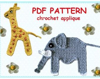 Pattern Crochet Appliques
