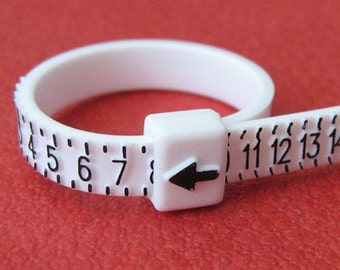 Finger Ring Sizing Gauge Measure Size