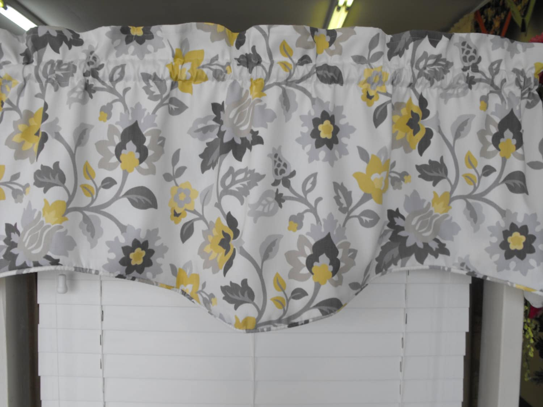 valance gray and yellow gray window valance by latedawindows