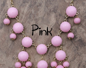 Mini Bubble Necklace, Pink bubble Necklace, JCrew Bubble Necklace