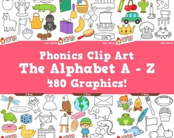 Alphabet Clip Art and Lineart Bundle - personal and commercial use