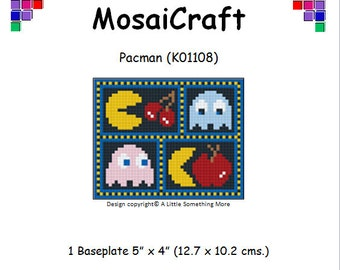 MosaiCraft Pixel Craft Mosaic Art Kit 'Pacman' (Like Mini Mosaic and Paint by Numbers)