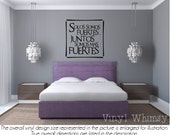 Spanish Quote - Solos Somos Fuertes... Juntos Somos Mas Fuertes/ Alone We Are Strong... Together We Are Stronger - Vinyl Wall Art - VRDSP010