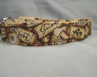 Wine Corks Dog Collar