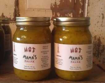 Handmade homemade medium mango salsa 16 oz. pint