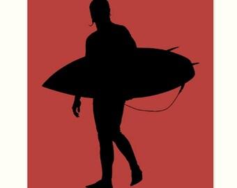 Boys room art, nautical boy room wall decor, surfer, surf art, dorm room decor, surfer boy
