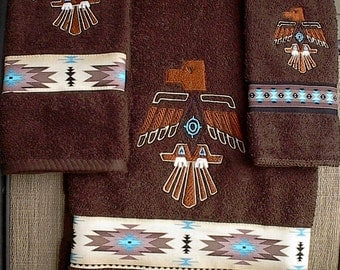 Thunderbird Towel set (Native American)