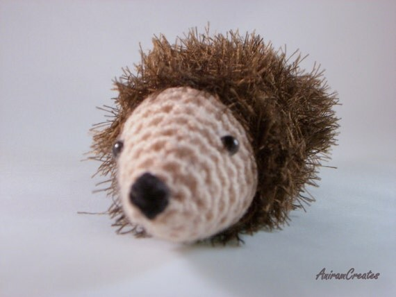 William the hand knitted fluffy hedgehog toy SALE by MooMush