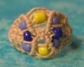 white hemp ring