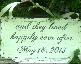 and they lived happily ever after Wedding Sign Rustic Wedding Sign Barn Wedding Sign Save the Date