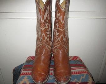 Vtg.Rockabilly Justin Cowboy Boots Size  Womens 6 B
