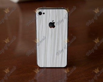 White Wood Grain Iphone skin for  4 - 4s - 5 - 5s