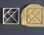 Square tangram cookie cut...