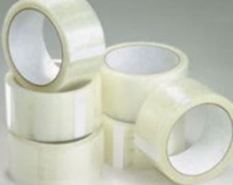 "6 Rolls 2"" x 110 yards Clear Carton Sealing Tape 2 MIL"