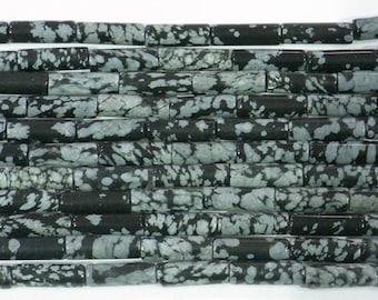 4x13mm Cuboid Black Line Jasper Beads Genuine Natural  6228 15''L 38cm Loose Beads Semiprecious Gemstone Bead   Supply