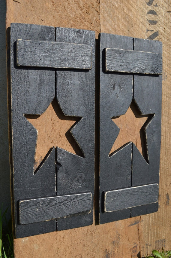 Pair Of Country Star Shutters