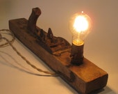 Antique Stanley Woodworking Plane Lighting Fixture
