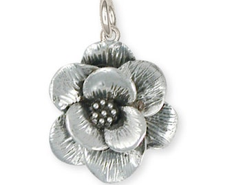 Sterling Silver Magnolia Charm Jewelry  MG1-C
