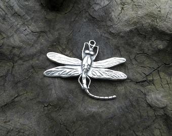 Sterling Silver Dragonfly Charm (.925) -Destash