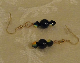 Crystal Earrings - Ebony Elegance