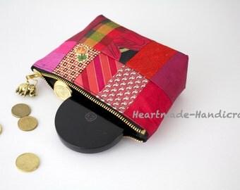 Thai silk mini handbag