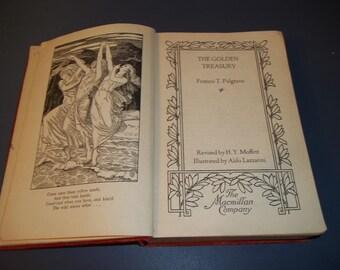 Palgrave's The Golden Treasury 1930 - Palgrave's -  1930's Poetry  Poems and Songs - The Golden Treasury Book