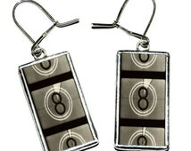 Film Reel - Tiffany technique - handmade glass earrings, Film Reel jewelry
