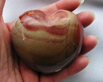 Polychrome Jasper Heart, crystal, mineral, gemstone, new age, metaphysical, #3