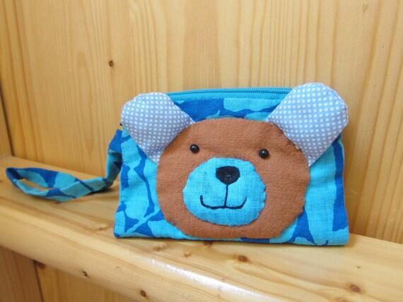 Handmade Bear wallet purse, Craft for Kids, Handcraft, sewing, sew for kids, ShineKidsCrafts