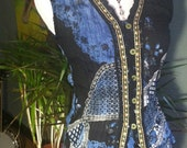 Re-cycled Redesigned Embellished Tunic Top