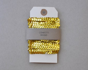 Metallic Gold Sequin Ribbon, 15 Feet