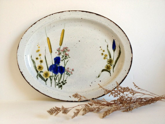 Midwinter Stonehenge Riverside Platter Floral Dinnerware