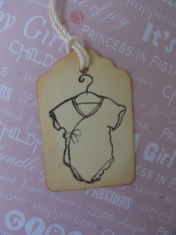 New baby boy gift tag : Baby onesie tags small gift tag new