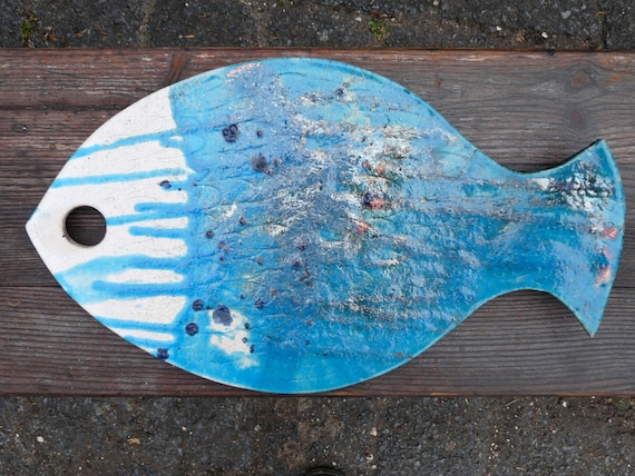 Sale dish plate tray 39 blue fish 39 for sushi by bothendsburning for Blue fish sushi
