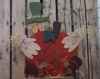 Harvest Scarecrow Wood Craft Pattern for Fall, Halloween & Thanksgiving