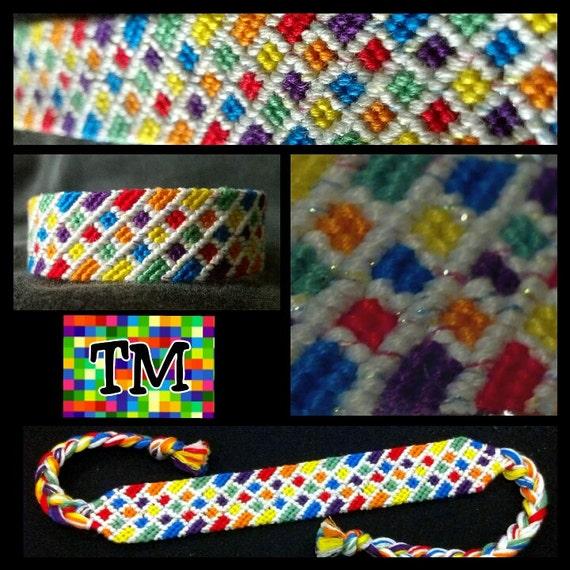 Stained Glass Rainbow Friendship Bracelet