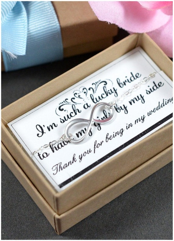 Wedding Gift Ideas For Friends Uk : gifts ,wedding jewelry,Infinity Bracelet with lucky card, Best friends ...