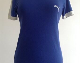 Vintage Blue Puma Tshirt