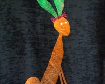 Easter Bunny/Carrot Burnout Women's T-shirt