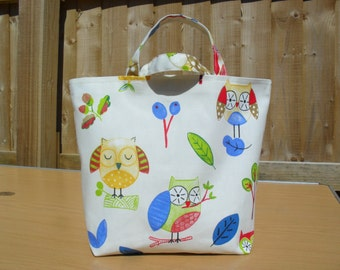 Small Ollie Owl Tote Bag