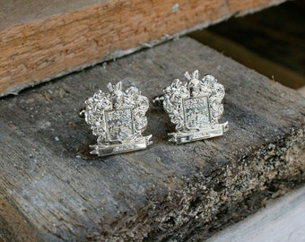 Custom Made  Family Crest Cufflink