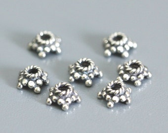50 of Bali Sterling Silver Bead Caps 3x6mm   CAP005