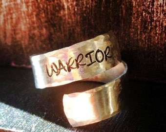 Warrior Ring, Spiral Ring, personalized ring, engraved ring, peace ring, gypsy ring  SPRALH01