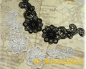 2 Colors Venice Lace Appliques Embroidered Flower Patches 2pais For Costume Headware Supplies