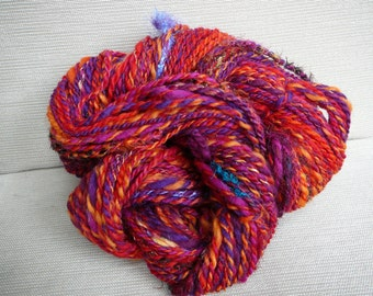 Autumn, 2-ply Handspun Art Yarn, 3.87 oz and 126 yards